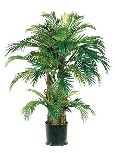 (One 4 foot Artificial Silk Triple Phoenix Palm Tree)