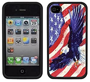 American Eagle Flag USA Handmade iPhone 4 4S Black Case by icecream design