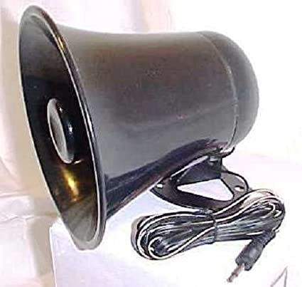 amazon com pa horn speaker w plug \u0026 wire 5 inch for cb ham radio Antique Speaker Horn Wiring amazon com pa horn speaker w plug \u0026 wire 5 inch for cb ham radio sports \u0026 outdoors