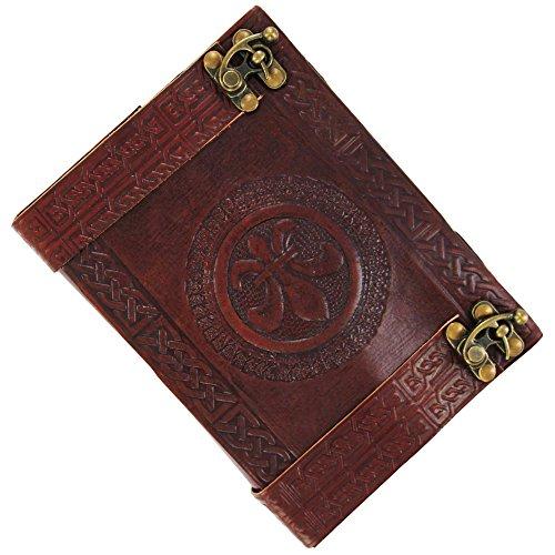 Fleur De Lis Eternity Knot Handmade Leather Journal