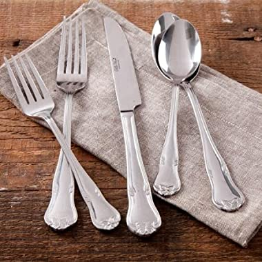 The Pioneer Woman Alex Marie 20-Piece Stainless Steel Flatware Set with Decorative Butterfly
