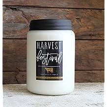 Milkhouse Candle Farmhouse Collection, 26 Ounce Canning Jar, HARVEST FESTIVAL
