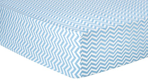 Trend Lab Chevron Deluxe Flannel Fitted Crib Sheet, Blue ()