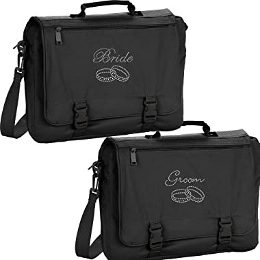 Set of Marriage Bride Groom Mr Mrs Gift Travel Carry On Bags Wedding Gift