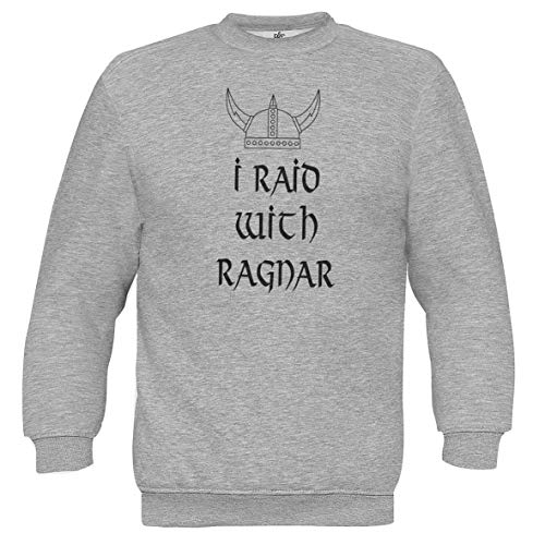 Ragnar Unisex Gris Vikings Sweat With Tv Series Raid I Chilltee Inspired zwxtfUOzq