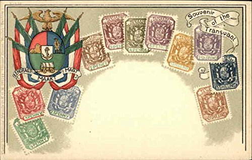South African Stamps - South African Republic or Transvaal Stamp Postcards South Africa Original Vintage Postcard