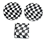 Open Wheel Indy Car Racing Checkard Flag Party 7'' Plates (16) Napkins (16)