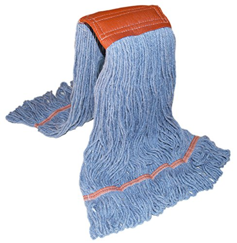 Nine Forty Industrial   Commercial Strength Premium Looped End Floor Cleaning Wet Mop Head Refill   Replacement – Heavy Duty 4 Ply Synthetic Yarn (2 Pack, Large) by Nine Forty (Image #5)