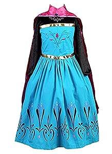 La Señorita Disfraz de Elsa Princesa de las Nieves vestido
