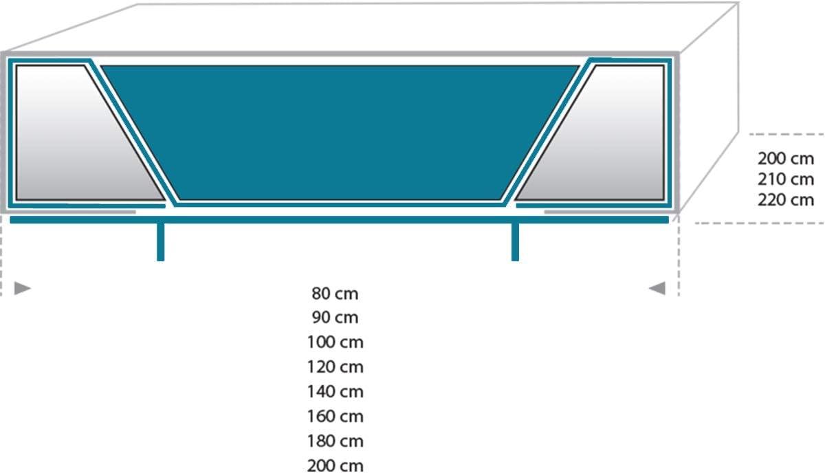 80x210 Mesamoll 2 Wasserbett Matratze Wasserkern Wassermatratze Wasserbett dual