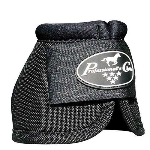 Professionals Choice Equine Ballistic Hoof Overreach Bell Boot, Pair (Large, Black)