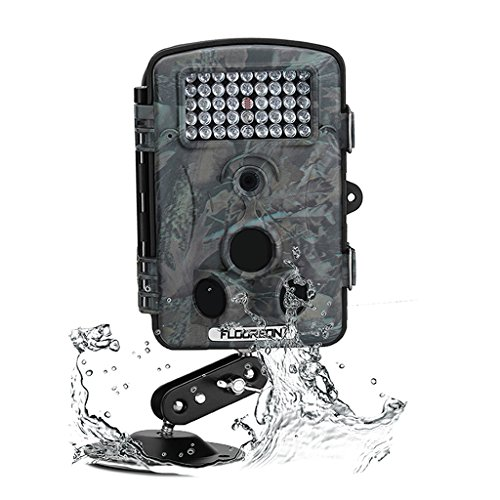 12MP Hunting Camera, Floureon 1080P HD Hunting Scouting Trail Waterproof Wildlife Record Video Camera Kamera Game Security PIR LED Night