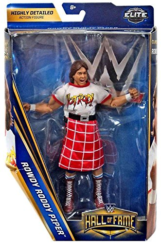 WWE Hall of Fame Elite Collection 6 Exclusive Rowdy Roddy Piper Figure -
