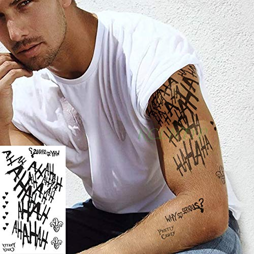 ljmljm 6pcs Etiqueta engomada del Tatuaje a Prueba de Agua King ...