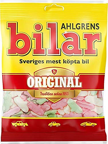 200 Bags x 125g of Ahlgrens Bilar Original – Swedish – Chewy – Marshmallow – Cars – Candies – Sweets – New Design!