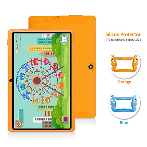 7 Android Kids Tablet PC Kids Edition Tablet Childrens Tablet Quad Core Kids Tablet with WiFi Camera 1GB + 16GB Parental Control (Orange)