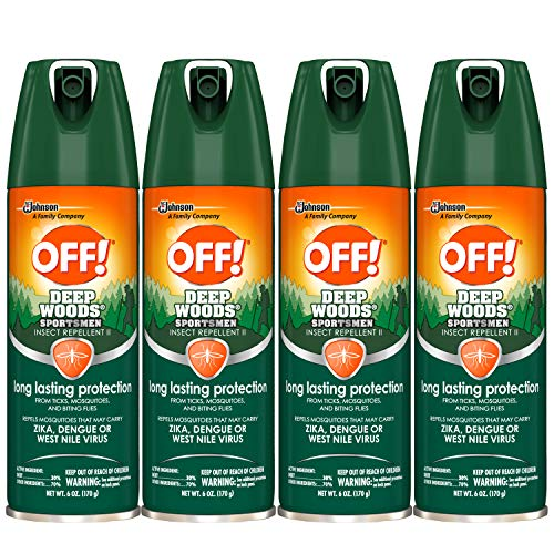 OFF! Deep Woods Sportsmen Insect Repellent II, 6 oz  ( Pack Of 4 )