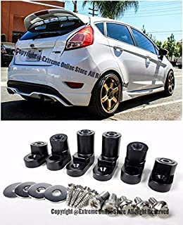 EOS Rear Wing Spoiler Riser Extender Lift Kit Black - For Ford Fiesta ST Hatchback 14