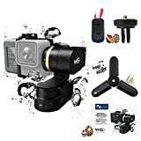 FeiyuTech WG2 3-Axis Wearable Gimbal with Smart Remote, New Tripod, Suitable for Action Camera GoPro Hero 5/4/Session, Yi 4K, AEE, SJCam etc.IP67 Waterproof, Autorotation, Two Axis Unlimited Rotating