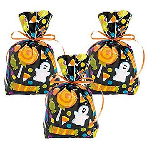 Cellophane Sweet Halloween Goody Bags (12 Count)/Halloween/Candy/CELLO BAG/Goody Bag/Grab Bag ()