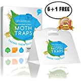 Moth Busters (7) Pantry & Clothes Moth Trap w/Natural Pheromone attractant Non-Toxic Safe NO INSECTICIDES (6 + 1 Free!)