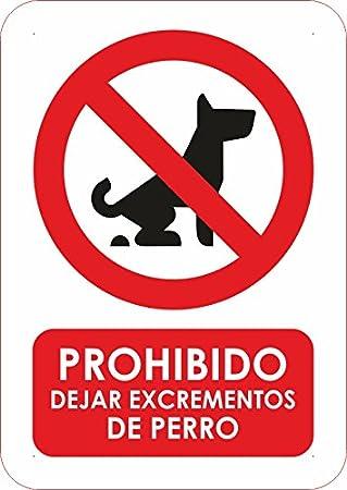Oedim Señaletica PVC Prohibido Dejar Excrementos de Perro Tamaño A4 (29,7x21cm) Señaletica en Material PVC Resistente
