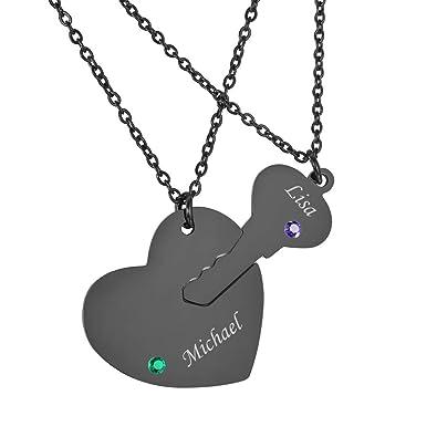 Amazon.com: Valyria - Juego de collar y colgante de acero ...