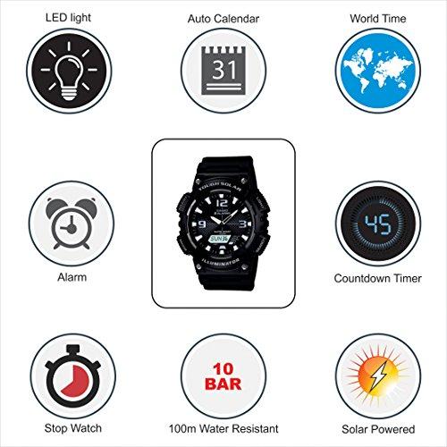 Casio AQS810W-1AVCF Men's AQ-S810W-1AV Solar Sport Combination Watch