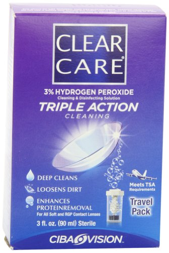 Clear Care Cleaning & Disinfection Solution-3 Ounce,travel Pack, 3 Fluid Ounce