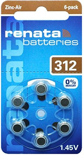 Renata Hearing Aid battery ZA312 - Box of 60 by Renata
