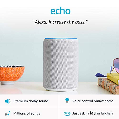 Amazon Echo (3rd Gen) – Improved sound, powered by Dolby (White)