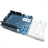 HiLetgo Uno R3 Prototyping Shield Prototype Board ProtoShield with Mini Breadboard for Arduino UNO R3