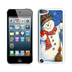 Special Custom Made Christmas snowman White iPod Touch 5 Case 12