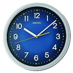 SEIKO Wall Clock, Silver, 31.1 x 31.1 x 3.9 cm