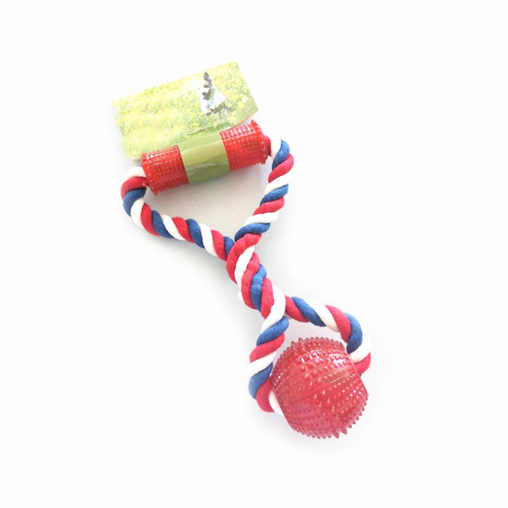 Bite Stick Throw Training Pet Toy Environmental Predection Non-Toxic Hand-Pulled Interactive Bite Dog Toy Dog Cotton Rope 5 Pcs (Random color)