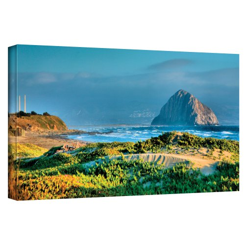 ArtWall 'Morro Rock and Beach' Gallery Wrapped Canvas Artwork by Steve Ainsworth, 18 by 36-Inch