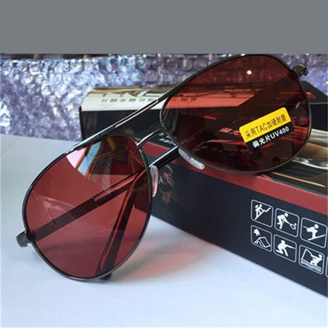 Sol Visión Diseñador la de Deslumbramiento Lente Brown Amarillo Conducción Nocturna Oro Hombres Polarizado Nocturna Reducir de Conducción GGSSYY Gafas Gafas Marca Mens de Gafas vWXwp68wSY