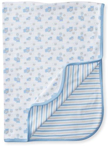 (Gerber Baby-Boys Organic Reversible Knit Receiving Blanket, Blue, 0-6)