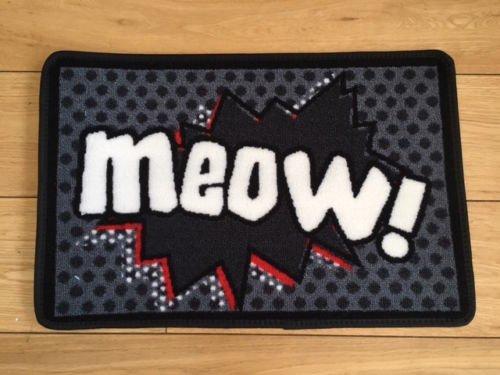 Meow Cartoon Cat Food Mat
