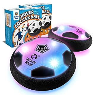 LLMoose Hover Soccer Ball Set of 2, Hover Ball with LED Lights and Soft Foam Bumpers to Protect Furniture, Kids Toys for 2-16 Year Old Boys/Girls, Excellent Indoor Fun