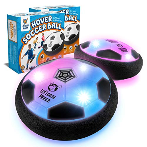 LLMoose Hover Soccer Ball Set of 2, Hover Ball with LED Lights and Soft Foam Bumpers to Protect Furniture, Kids Toys for…
