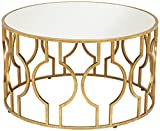 55 Downing Street Fara Antique Gold Leaf Round Coffee Table
