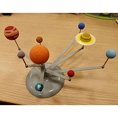Les yeu DIY Solar System Planetary Nine Planet Models Luminous Models Planetary Instrument: Toys & Games