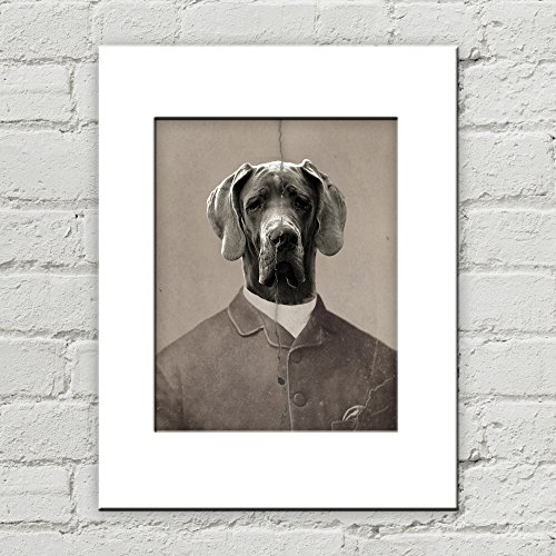 Inanimate Object Costumes (8 x 10 Great Dane Dog Matted Art Print, Anthropomorphic)