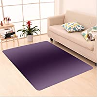 Nalahome Custom carpet Ombre Hollywood Glam Show Inspired Color Ombre Design Digital Printed Room Decorations Purple area rugs for Living Dining Room Bedroom Hallway Office Carpet (36x60)