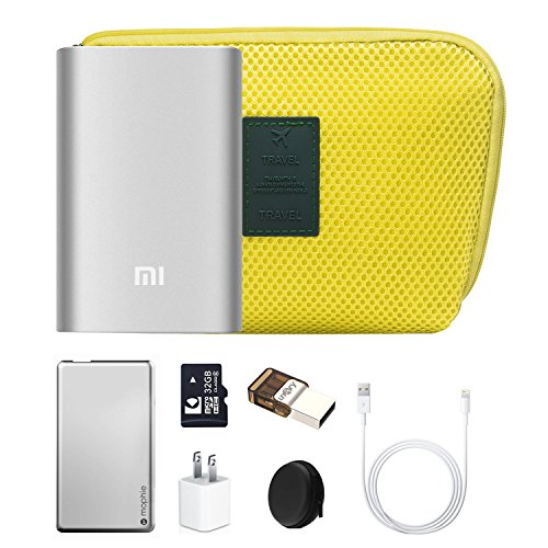 Travel Universal Organizer Bag / Electronics Accessories Case Packing Storage Bag, Multifunctional Shockproof Makeup Pouch, Gadget Bag, Data Cable Travel Case With Mesh (Size M, Yellow) - Happy Hours by Happy Hours (Image #6)