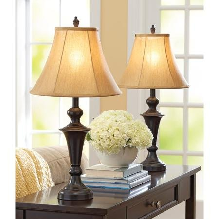 Price comparison product image Better Homes and Gardens Traditional Lamp,  Espresso Finish,  2pk
