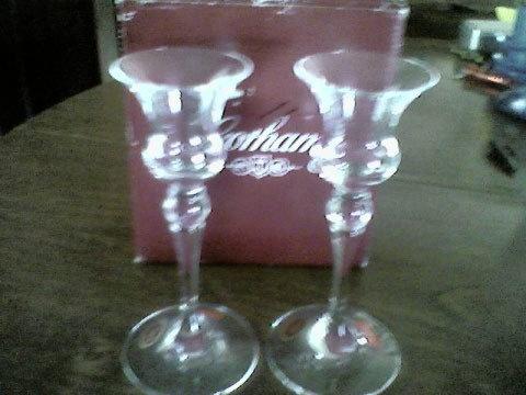 Gorham Rondelle Candle Cups - Crystal Candle Holder Gorham