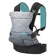 The Go Forward carrier features the comfort of 4 ergonomic carrying positions with an easy to use, intuitive design. Transitional seat provides knee-to-knee support for infants through toddlers. The ergonomic design supports baby's back and h...