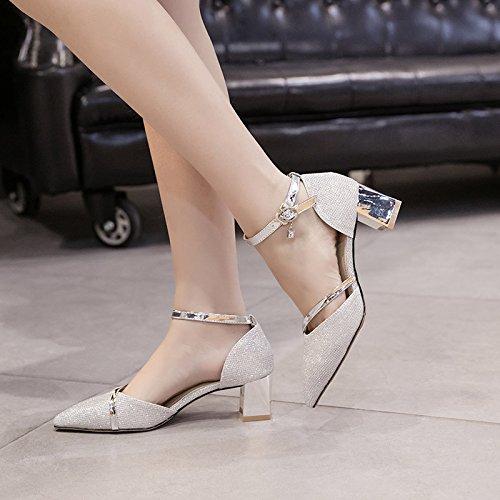 Avec Gros Hauts black Boucle Match Talons Une Chaussures Des 5 Chaussures Tuyau Des De Cm KHSKX wvgq47x
